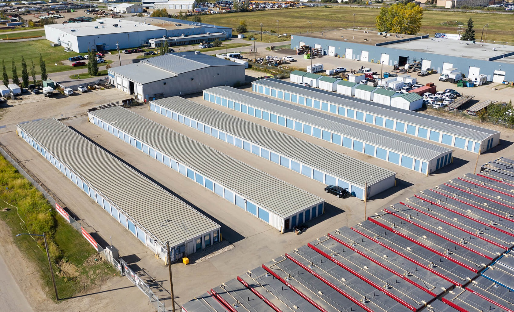 Rent Spruce Grove storage units at 71 Diamond Ave. We offer a wide-range of affordable self storage units and your first 4 weeks are free!